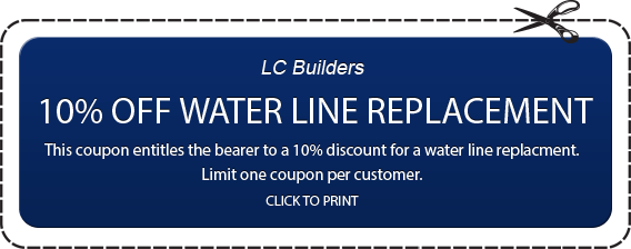 10% Off Water Line Replacement