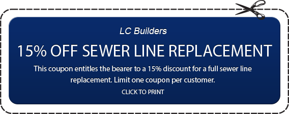 15% Off Sewer Line Replacement